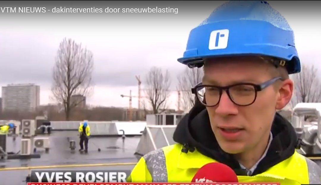 VTM Nieuws – dakinterventies door sneeuwbelasting
