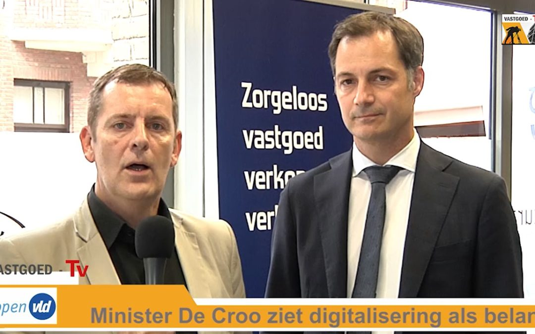 Minister De Croo onderstreept belang van digitalisering voor syndicus
