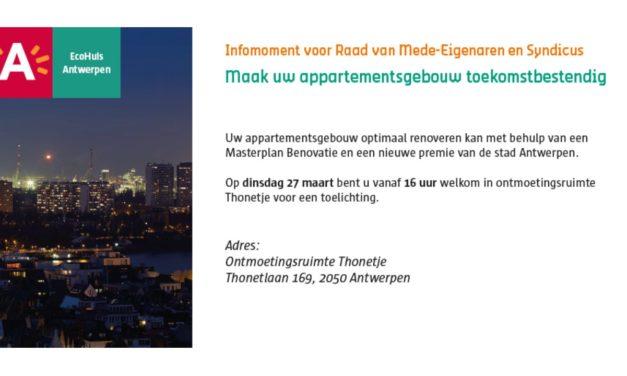 Stad Antwerpen heeft premie voor mede-eigenaars